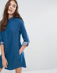 Платье-рубашка из шамбре Jack Wills Maggie - Синий