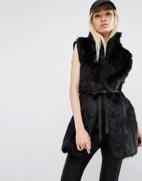 Жилет из искусственного меха Unreal Fur - Черный