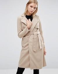 Длинное пальто с поясом Love & Other Things - Оранжевый