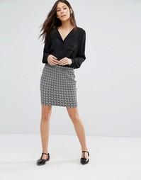 Трикотажная облегающая юбка Unique 21 - Черный