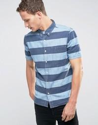 Рубашка в полоску с короткими рукавами и карманом Element - Синий