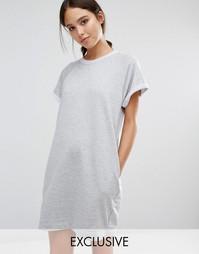 Трикотажное платье-джемпер Stitch & Pieces - Серый
