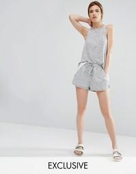 Свободные шорты Stitch & Pieces - Серый