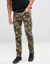 Коричневые камуфляжные брюки‑карго Liquor & Poker - Коричневый