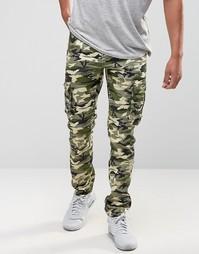 Зеленые брюки карго с камуфляжным принтом Liquor & Poker - Зеленый