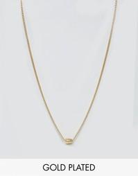Позолоченное ожерелье с подвеской-гранатой Lovebullets - Золотой