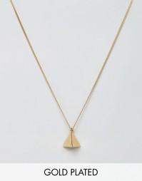 Позолоченное ожерелье с подвеской-пирамидой Lovebullets - Золотой