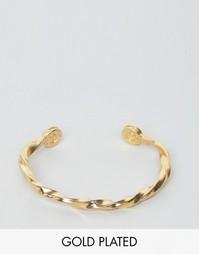 Позолоченный браслет с перекрученной отделкой Lovebullets - Золотой