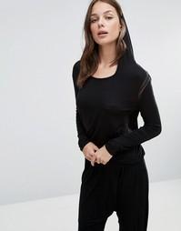 Лонгслив с капюшоном Heidi Klum - Черный