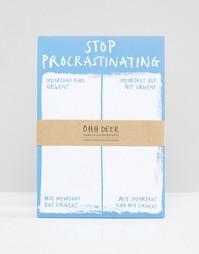 Блокнот формата A5 Ohh Deer Stop Procrastinating - Мульти