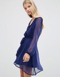 Приталенное платье с перекрестным дизайном Madame Rage - Темно-синий