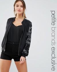 Декорированная куртка‑пилот Maya Petite - Черный