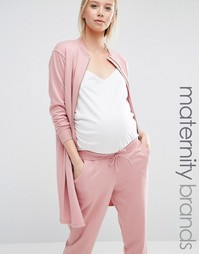 Удлиненная куртка-пилот для беременных Bluebelle Maternity - Розовый