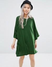 Платье-футболка Weekday Huge - Зеленый