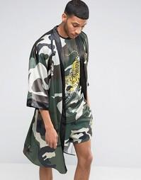 Кимоно с камуфляжным принтом Jaded London Souvenir - Зеленый