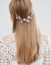 Украшение для волос с цветочным узором Love Rocks - Серебряный
