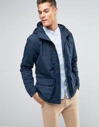 Темно-синяя парусиновая куртка с капюшоном Jack Wills - Темно-синий