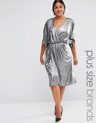 Платье с запахом спереди Lovedrobe - Серебряный