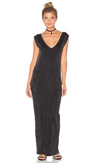 Макси платье с глубоким v-образным вырезом - Callahan