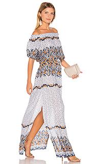 Макси платье с открытыми плечами sage - Tiare Hawaii