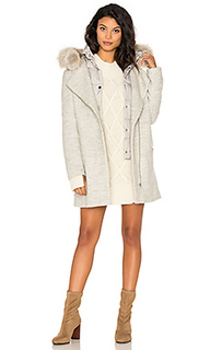Rafaella coyote fur trim coat - Soia & Kyo