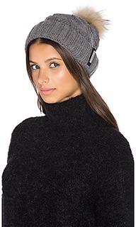 Amalie hat with asiatic raccoon fur pompom - Soia & Kyo