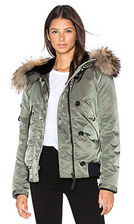 Riley bomber with rabbit and raccoon fur - SAM.