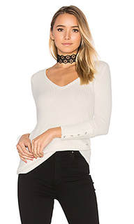 Deep v button cuff thermal tee - Chaser