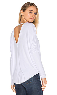 V back oversized shirttail dolman tee - Chaser
