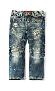 Clayton distressed biker jean - Haus of JR