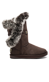 Nordic angel short rabbit fur and shearling boot - Australia Luxe Collective