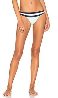 Banded color block teeny bikini bottom - PILYQ