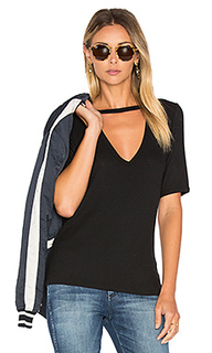 Ribbed cutout v tee - LNA