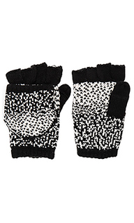 Ombre dot texting mittens - Plush