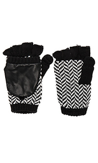 Herringbone texting mittens - Plush