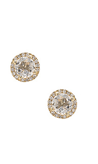 White topaz stud earrings - EF COLLECTION