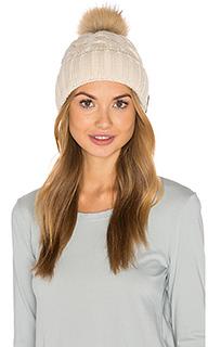 Amalie hat with fox fur pompom - Soia & Kyo