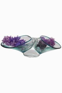Стеклянная ваза 12 см Garda Decor