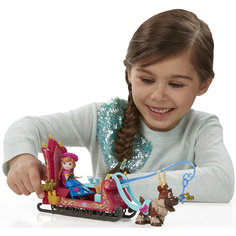 """Игровой набор """"Маленькие куклы"""" Анна, Свен и сани,  Холодное сердце, B5194/B5196 Hasbro"""