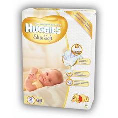 Подгузники Elite Soft (2) 4-7кг, 66 шт., Huggies
