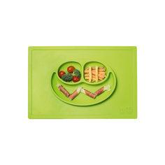 Тарелка с подставкой Happy Mat, ezpz, зеленый