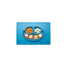 Тарелка с подставкой Happy Mat, ezpz, синий