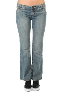 Джинсы узкие женские Zoo York Skinny Fit Denim Dark Sand Wash