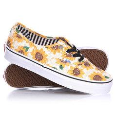 Кеды кроссовки низкие женские Vans Authentic Sunflower True White