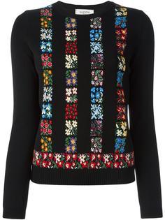 свитер с цветочным узором  Valentino