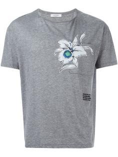 футболка с принтом орхидеи  Valentino