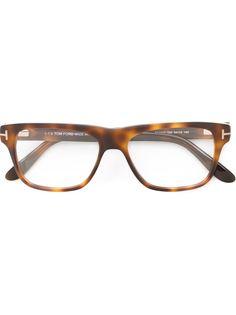 очки в квадратной оправе Tom Ford Eyewear