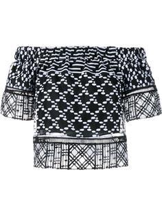 блузка с вышивкой Jonathan Simkhai
