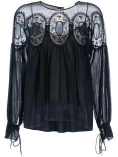 кружевная блузка с рисунком Chloé