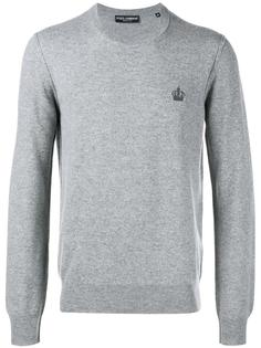 свитер с вышивкой  Dolce & Gabbana